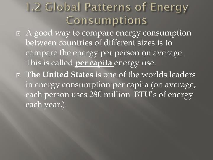 1.2 Global Patterns of Energy