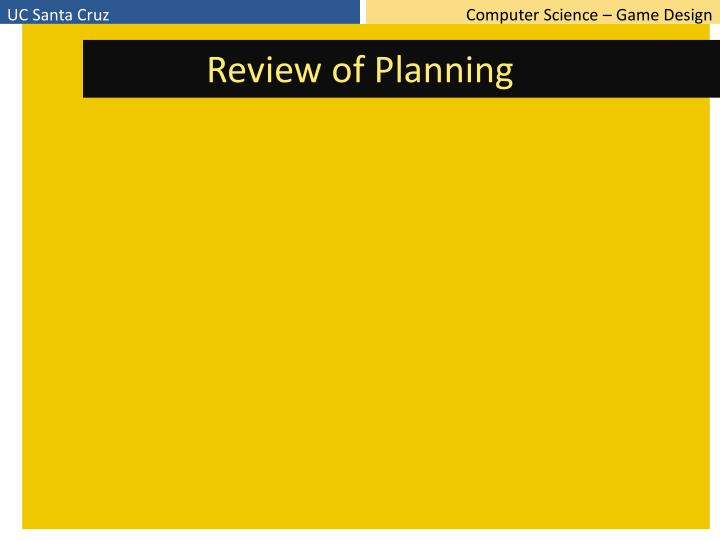 Review of Planning