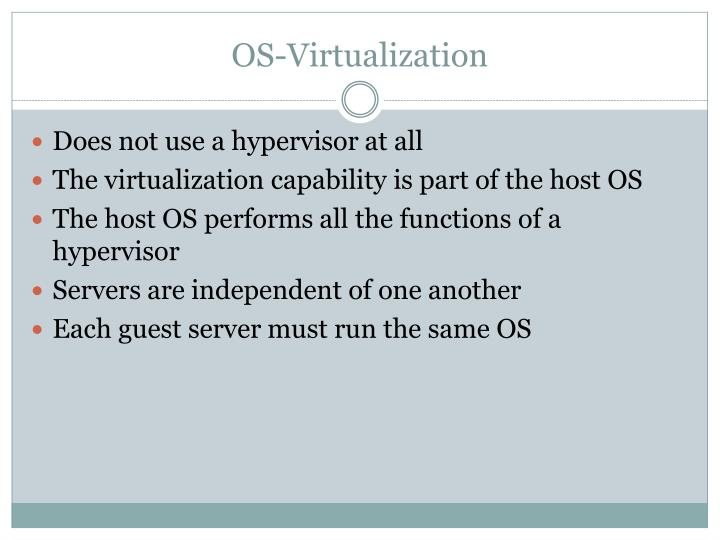 OS-Virtualization