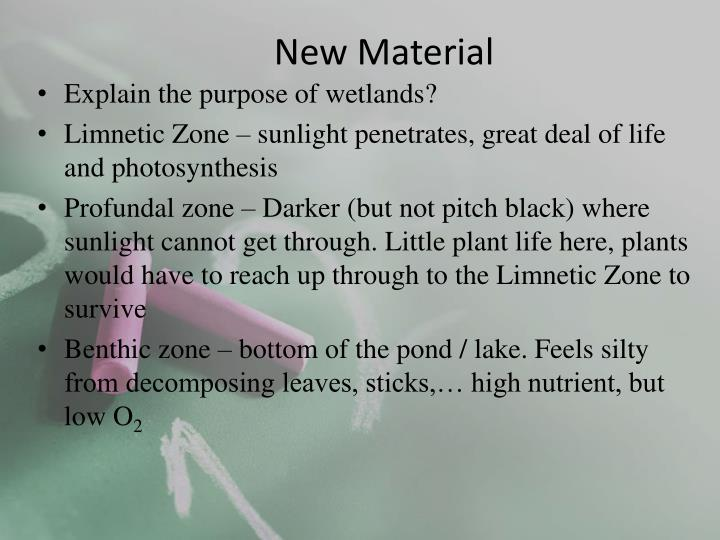 New Material
