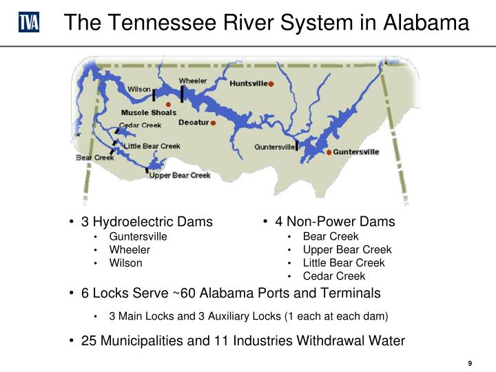 The Tennessee River System in Alabama