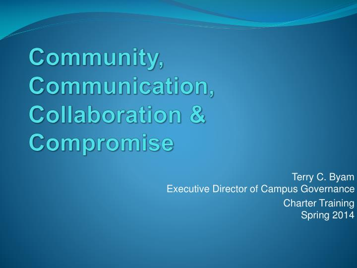Community communication collaboration compromise