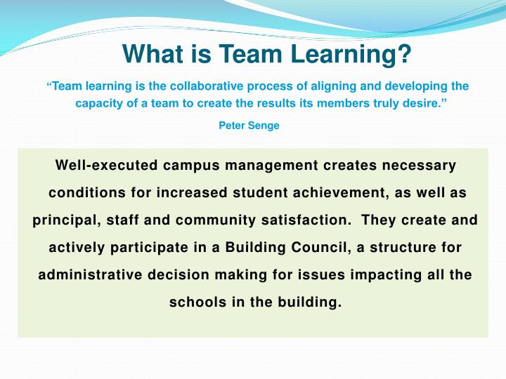 What is Team Learning?