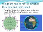 winds are named for the direction they flow and their speed