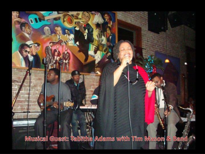 Musical Guest: Tabitha Adams with Tim Mason & Band