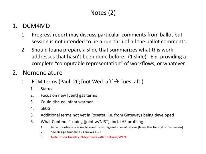 Notes (2)