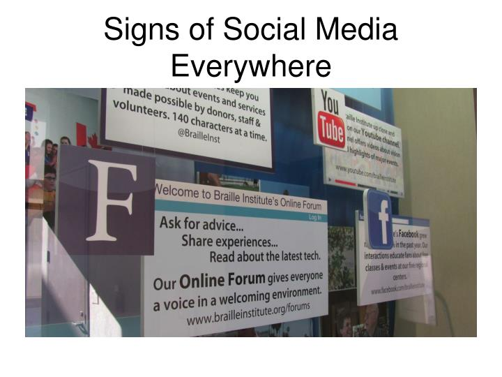 Signs of Social Media Everywhere