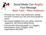 social media can amplify your message basic tools many audiences