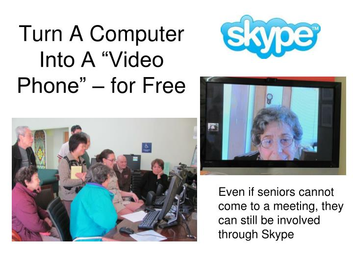 "Turn A Computer Into A ""Video Phone"" – for Free"