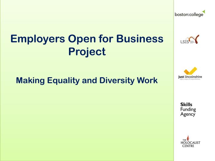 Employers Open for Business Project