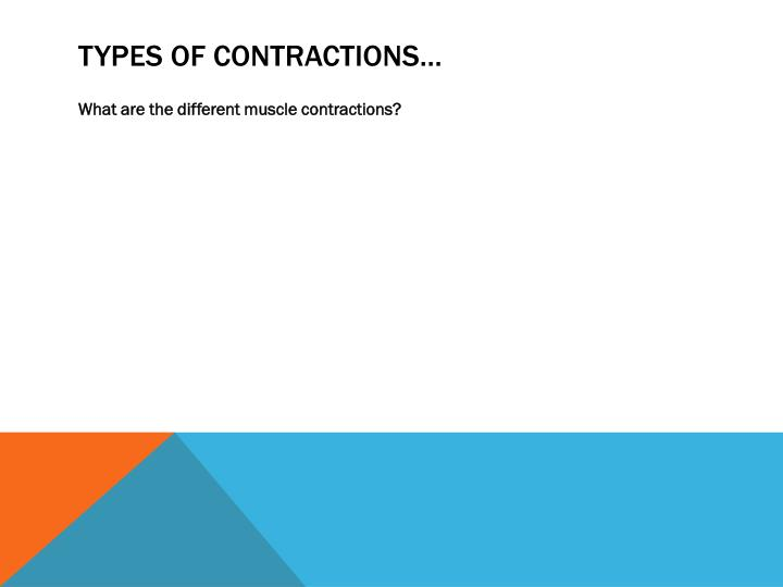 Types of contractions…
