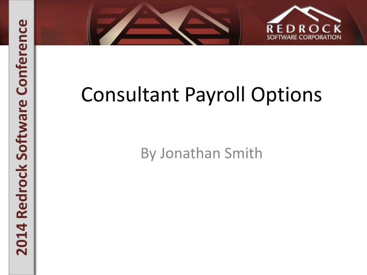 Consultant payroll options