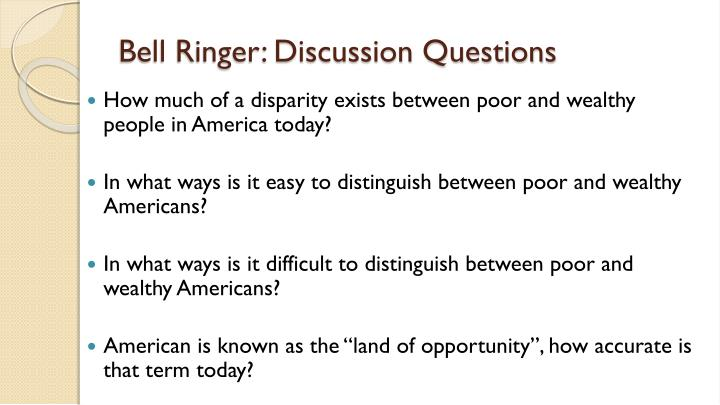 Bell Ringer: Discussion Questions