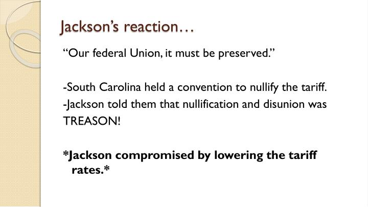 Jackson's reaction…