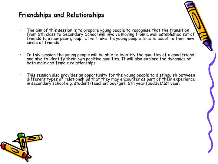Friendships and Relationships