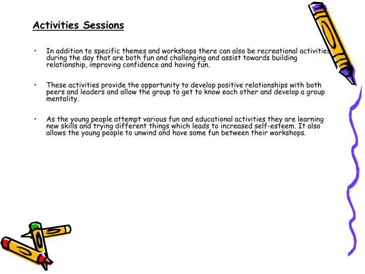 Activities Sessions