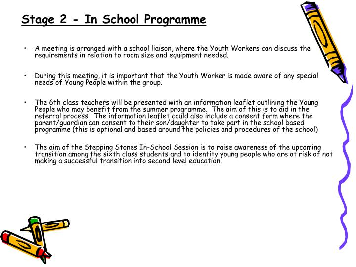 Stage 2 - In School Programme