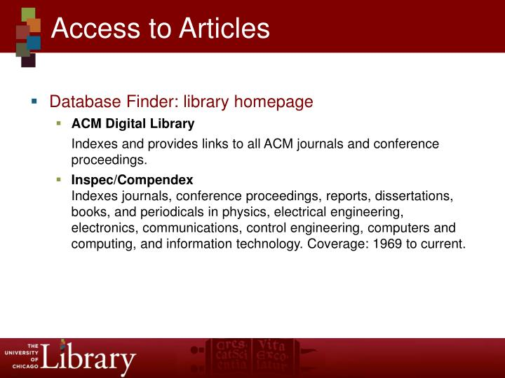 Access to Articles