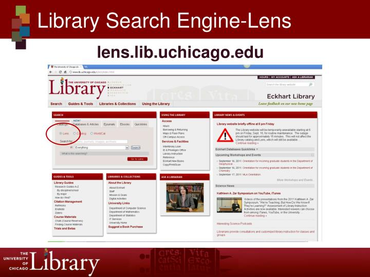 Library Search Engine-Lens