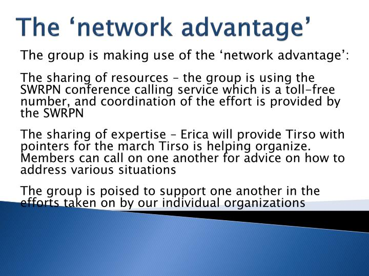 The 'network advantage'