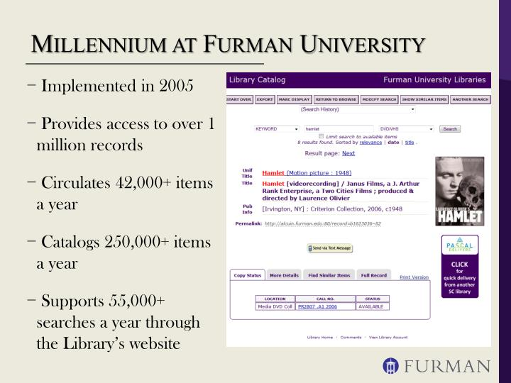 Millennium at Furman University