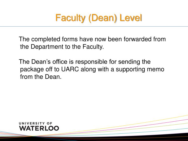 Faculty (Dean) Level