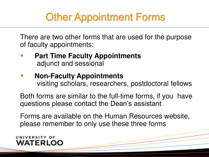Other Appointment Forms