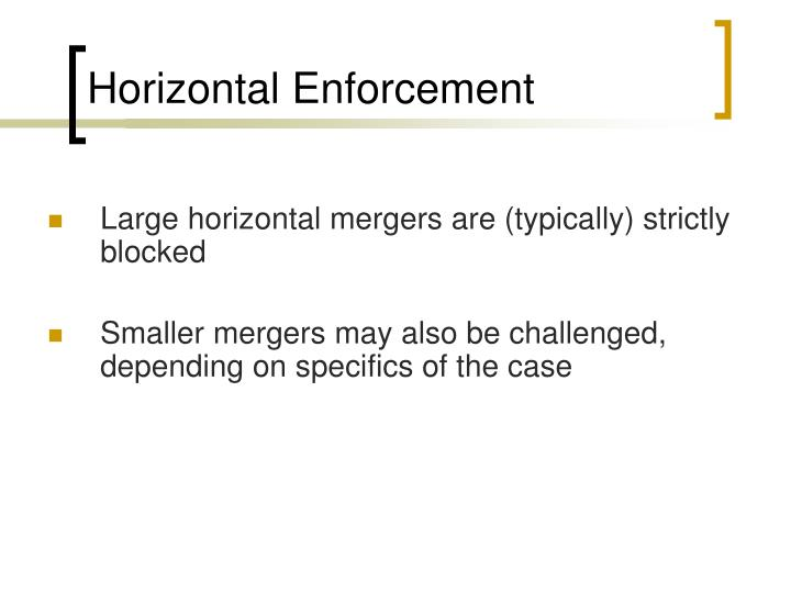 Horizontal Enforcement