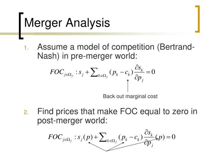 Merger Analysis