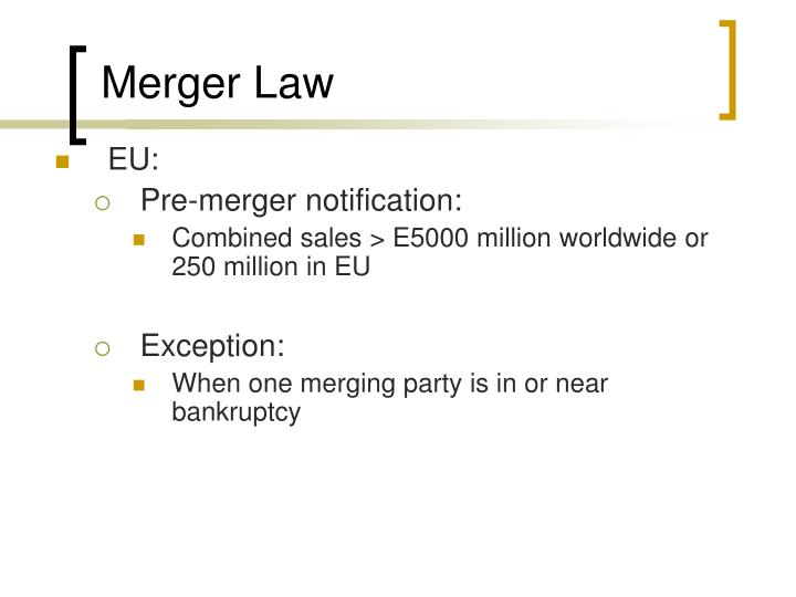 Merger Law
