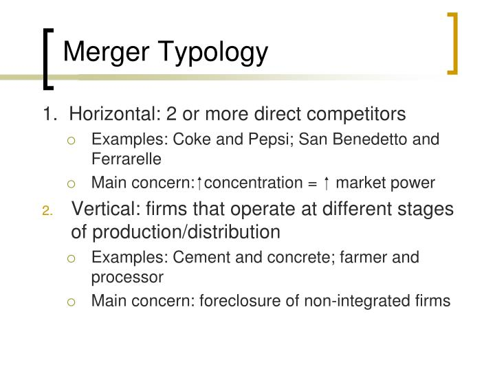 Merger Typology