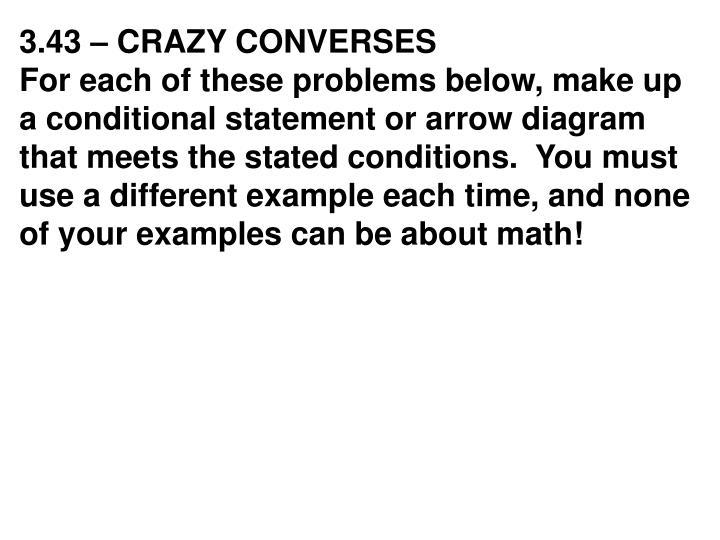 3.43 – CRAZY CONVERSES
