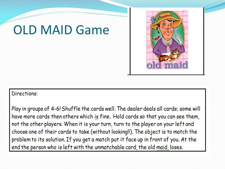 OLD MAID Game
