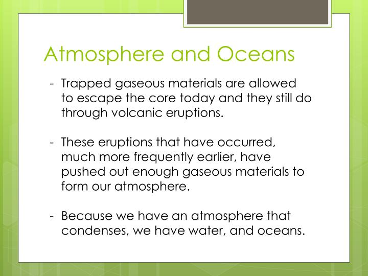 Atmosphere and Oceans