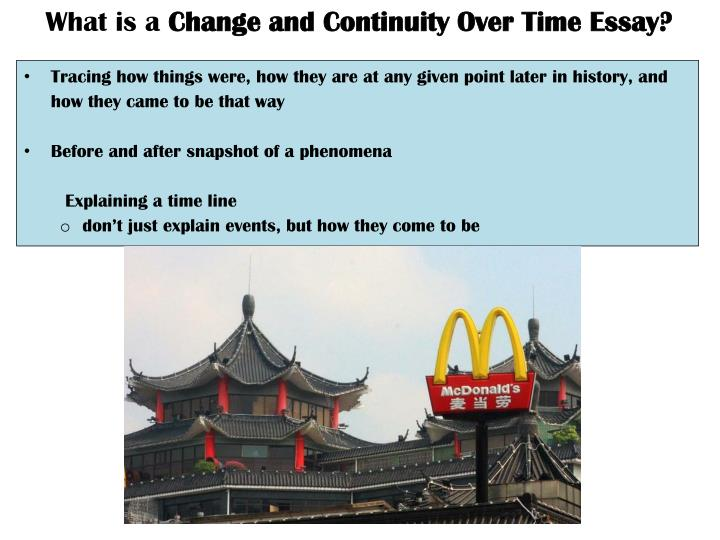 Change over time essay
