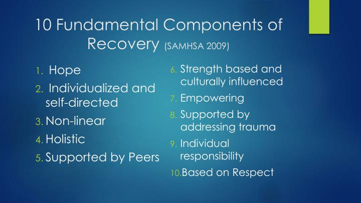 10 Fundamental Components of Recovery