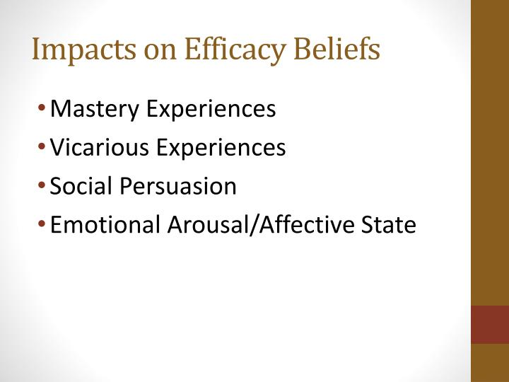 Impacts on Efficacy Beliefs