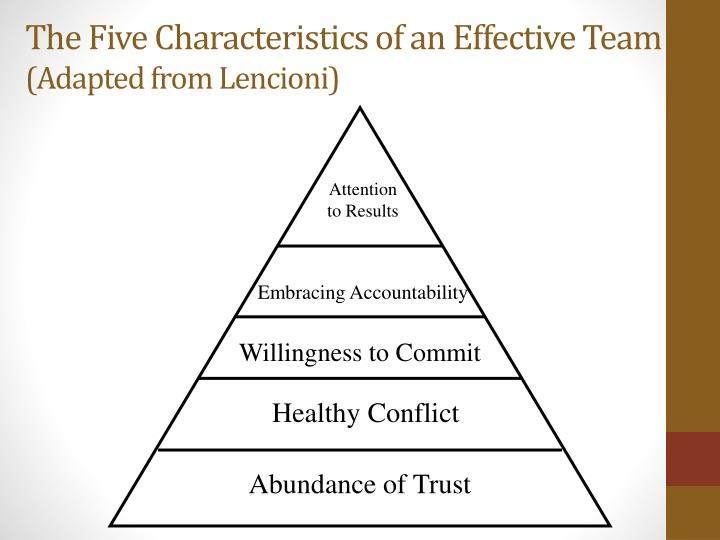 The Five Characteristics of an Effective Team