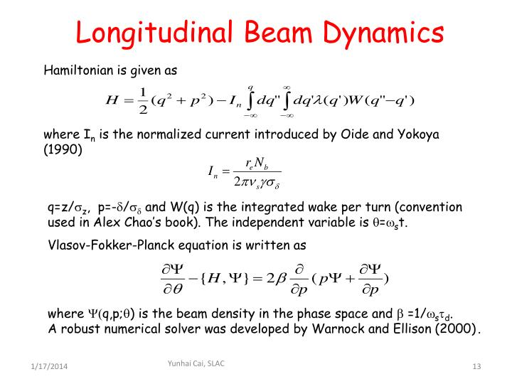 Longitudinal Beam Dynamics