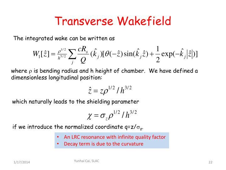 Transverse Wakefield