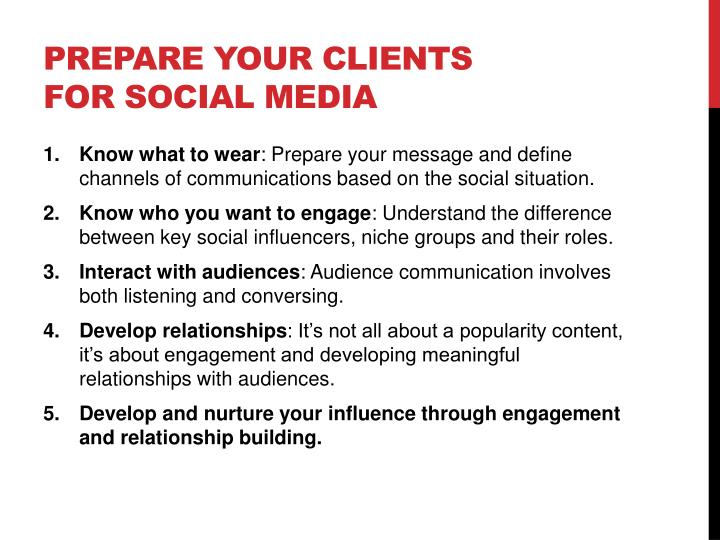 Prepare your Clients for Social Media