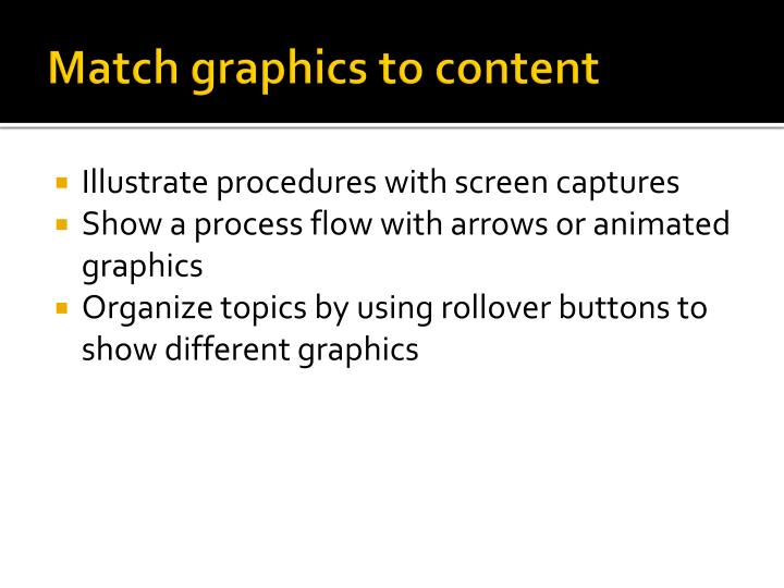 Match graphics to content
