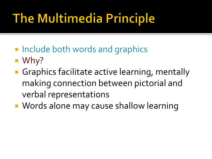 The Multimedia Principle