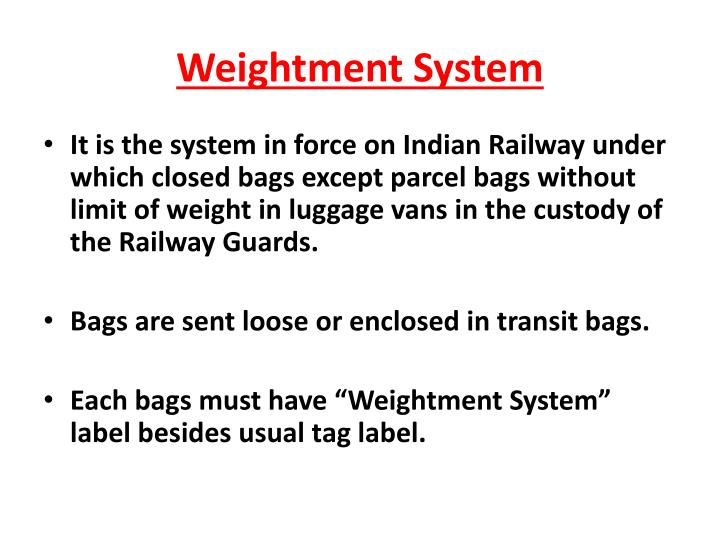Weightment system