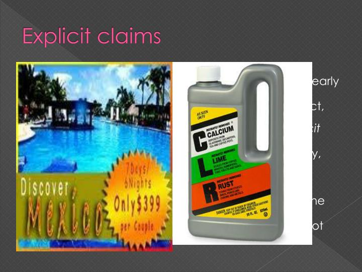 Explicit claims