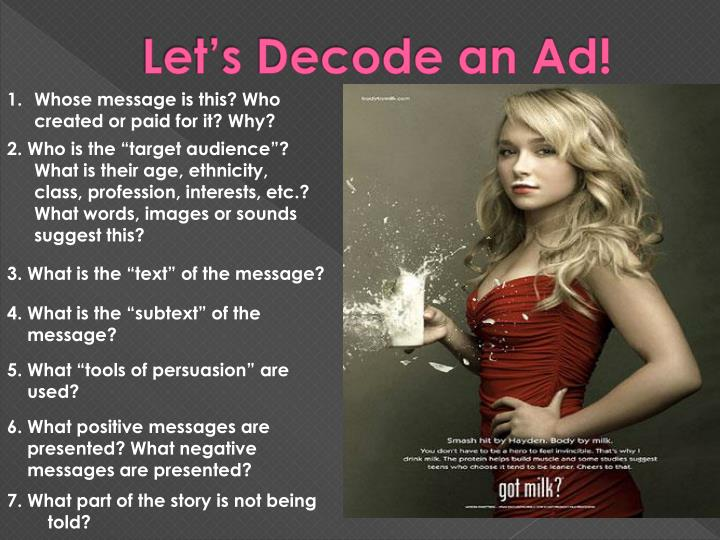 Let's Decode an Ad!