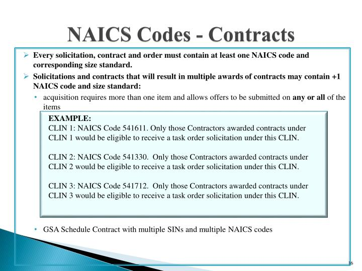 NAICS Codes - Contracts
