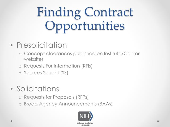 Finding Contract Opportunities