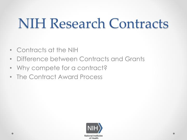Nih research contracts1