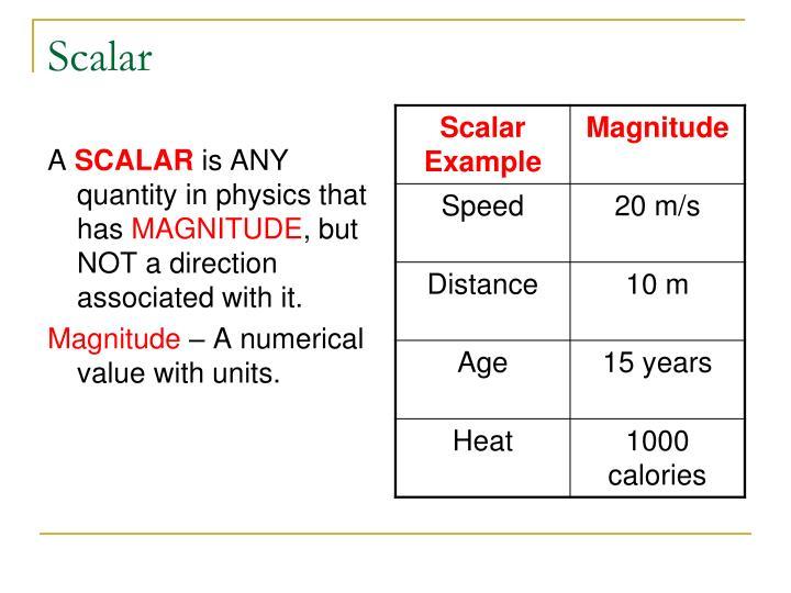 Scalar